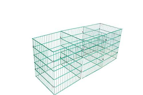 Sia Laub & Rasenschnitt Komposter Dekaton über 5.300 Liter Füllvolumen grün, schwere Qualität aus Deutscher Produktion, Garantie; schneller Fast geruchsfreier Humus