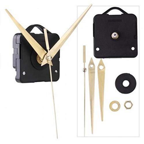 Práctico reloj de pared de cuarzo con movimiento de punto de cruz, mecanismo de cuarzo para reparación de bricolaje