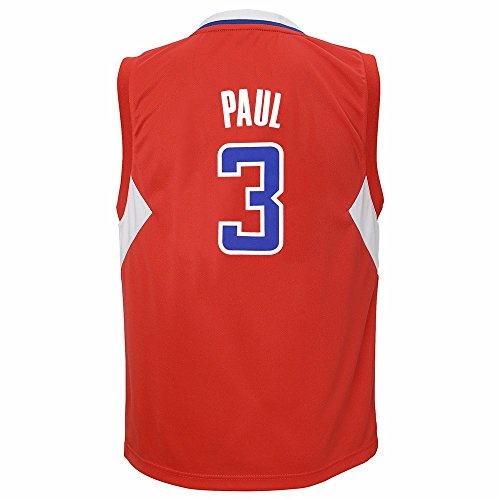 adidas NBA Little Kid's Los Angeles Clippers Chris Paul Away Replica Jersey, Red Small(4)