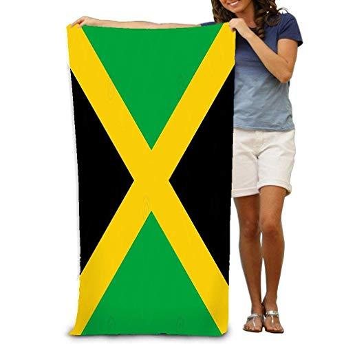 Toalla de baño Toalla de Playa Grande Suave Bandera Suave única Textura de Fondo de Jamaica Bandera de Cerca Jamaica