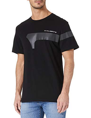 G-STAR RAW 1 Reflective Graphic Camiseta, Dk Black 336-6484, XL para Hombre