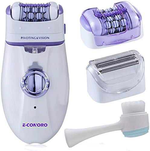 Epilator for Women, 2 in 1 Hair Removal Epilator with Epilator Head & Shaver Head, Electric Cordless Hair Shaver Portable Painless Epilator Hair Removal for Face Bikini Trimmer Ladies & Men