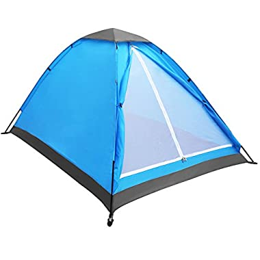 Yonovo Upgraded Lightweight 2 Person Camping Backpacking Tent With Carry Bag, Small Package (Blue)