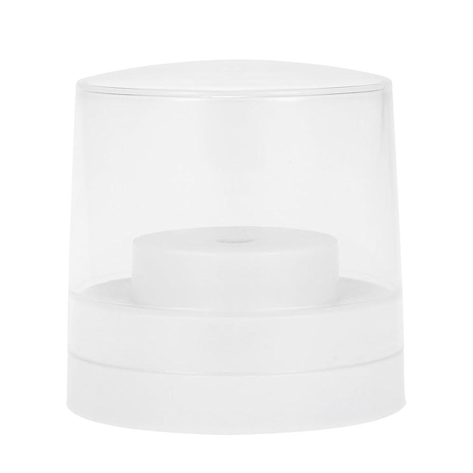 分散コート適応Decdeal ネイルドリルビットホルダー 60穴 歯科用 バースタンド ディスプレイ オーガナイザー コンテナ 透明 カバープラスチック ネイル 歯科用アクセサリー