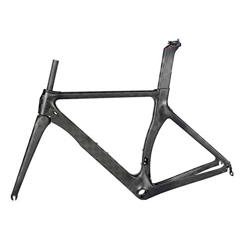 MXSXN Cuadro De Bicicleta De Carretera De Carbono T800 18K BB92 Aero Design Freno De Velocidad Variable Ultraligero 700C Cuadro De Bicicleta De Carreras De Fibra De Carbono,54cm