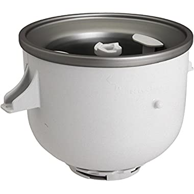 KitchenAid KICA0WH Ice Cream Maker Attachment (Fits 8 quart Mixers)