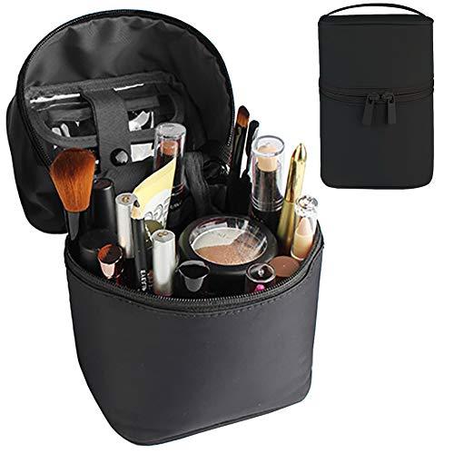 Cosmetische Tas, VUL Make-Up Bag Veelzijdige Rits Draagbare Toiletruimte Reizen Tool Box Grote capaciteit Waterdichte Opslag Organisator voor Vrouwen Meisje Zwart