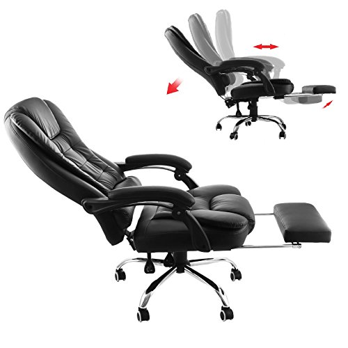 Superland Executive Reclining Office Chair 360 Degree Swivel Ergonomic High Back Executive Chair with Foot Stool