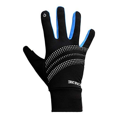MYSdd Neutral Sport Touchscreen Winddicht Warme Winter Fleece Handschuhe Laufen Joggen Wandern Radfahren Skifahren Reflektierend - Blau XL XL