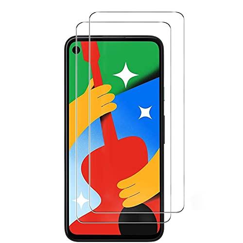 wsky Panzerglas Schutzfolie Kompatibel mit Google Pixel 4A 4G, Blasenfrei Panzerglasfolie, HD klar Folie, Gehärtetes Glas, Panzerglasfolie fur Google 4A [2 Stück]