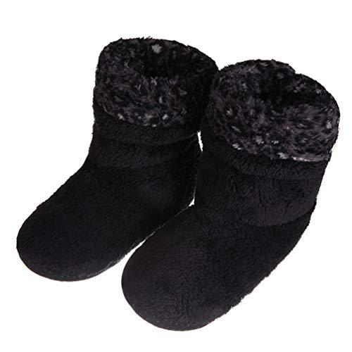 LFEU Startseite Hausschuhe Stiefel für Männer Weichem Plüsch Fleece Fußbodensocken Indoor Flats Schuhe Bootie