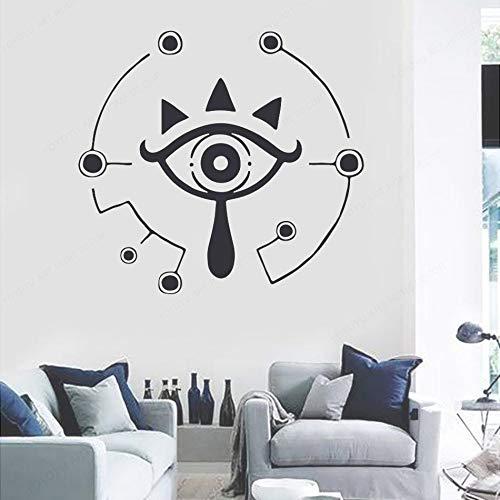 Aliento del símbolo salvaje Monster Eye Cartoon Anime Game Legend Zelda Etiqueta de la pared Vinilo Art Decal Boy Fans Dormitorio Sala de estar Club Decoración para el hogar Mural