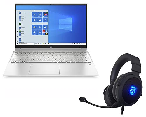 2021 Latest Eluk Pavilion 15 Laptop - AMD Ryzen 4700U 8-Core Processor, 1TB PCIe SSD, 16GB DDR4 RAM, Full HD Micro-Edge Touch Screen Display, Windows 10 Professional, Backlit Keyboard, WiFi 6