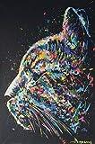 N / A Acuarela Cat Face Animal Wall Art Las Impresiones en Lienzo y Las Pinturas de Carteles Son adecuadas para la Sala de Estar Imágenes de Pared sin Marco sin Marco 20x30 cm