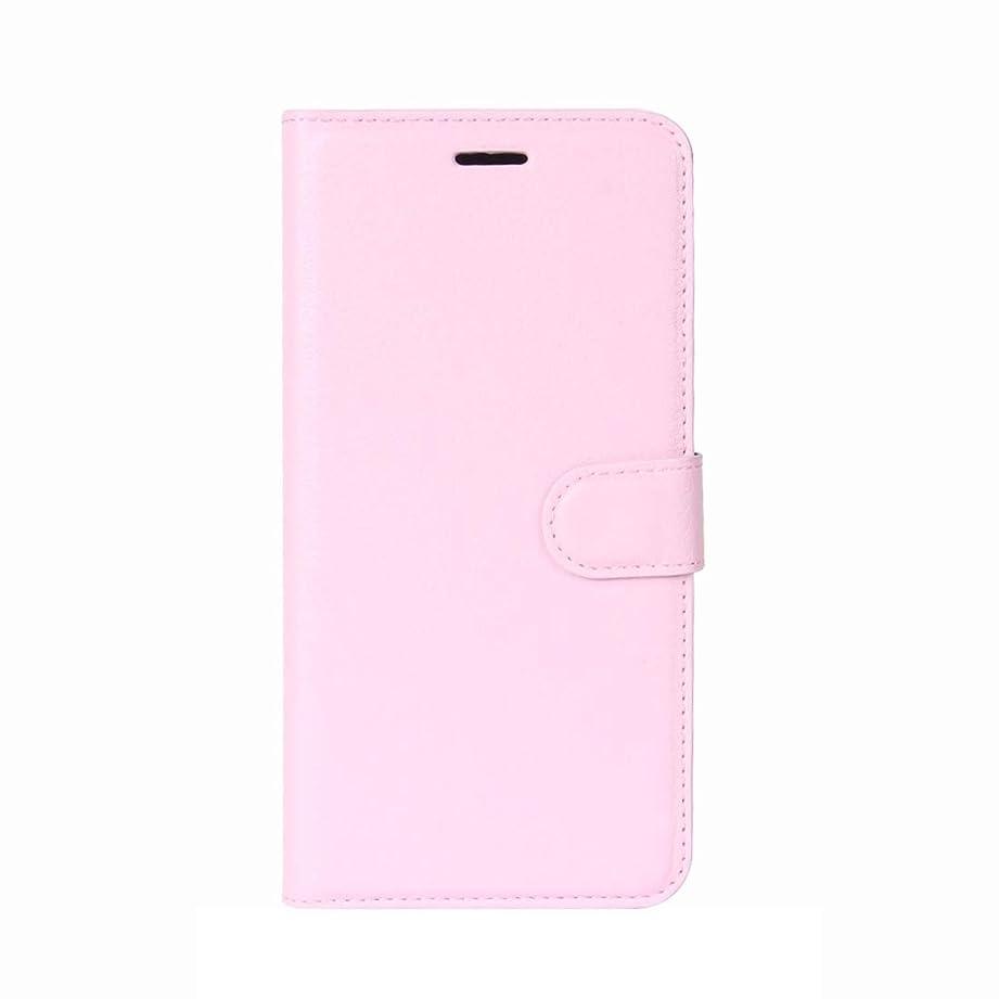 故国対住むWTYD 電話アクセサリー Huawei Y7 Litchiテクスチャホルダー&カードスロット&財布と水平フリップレザーケース 電話使用 (Color : ピンク)
