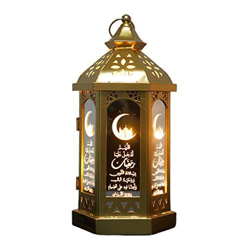 CADANIA LED Decorative lights, Happy Eid Mubarak Metal LED Lights Festival Lantern Ramadan Decoration Muslim-3