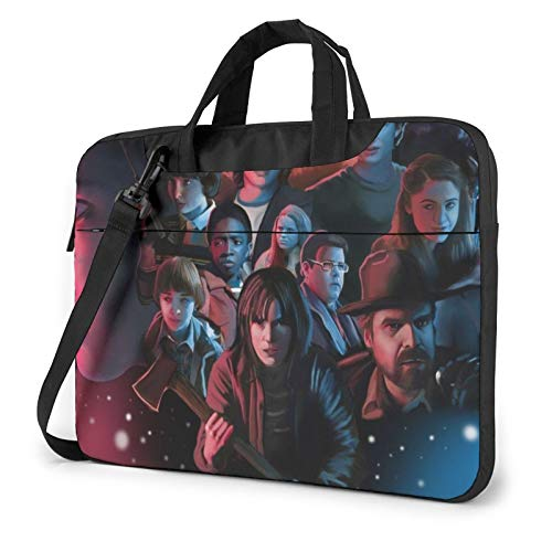 Stra-nger Th-ings Laptop Bag Laptop Sleeve Portable Tablet Briefcase Cloth Protective Lightweight Laptop Shoulder Bag for MacBook Pro/MacBook Air/Notebook 15.6 inch