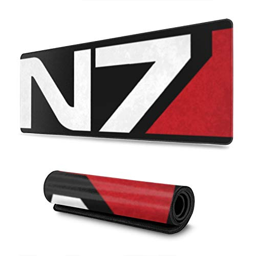 """Gaming Mouse Pad N7 Mass Effect Long Extended Surface for Desktop Pc Computer Work Productivity Or Video Games,Laser Accuracy for Fast Responsiveness,11.8"""" X 31.5"""""""