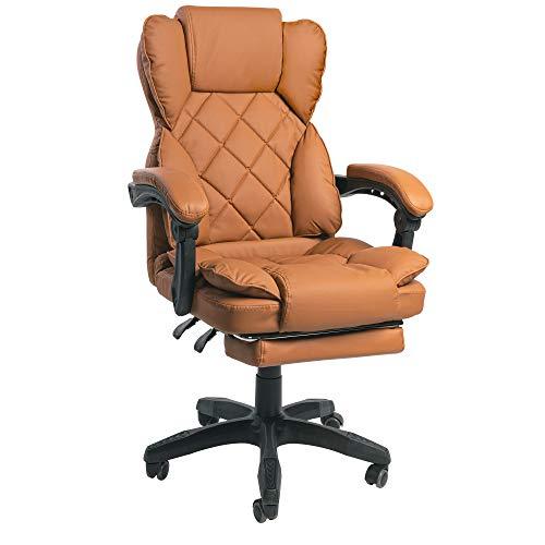 Schreibtischstuhl Design Bürostuhl TV Sessel Chefsessel Relax & Home Office, Farbe:Braun