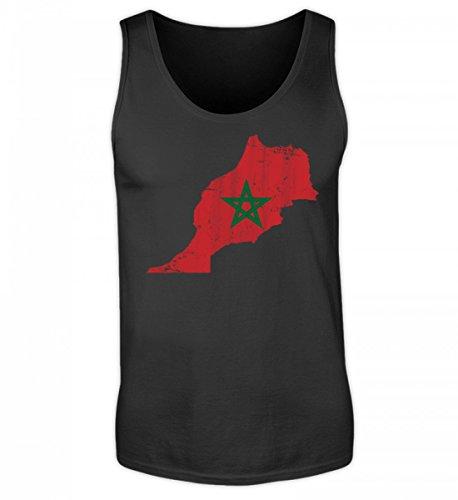 SwayShirt Hochwertiges Herren Tanktop - Marokko Stolzes Marokkanisches Vintage Fussball Fan Trikot - Morocco Land Sport Geschenk