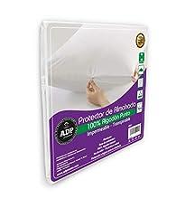 ADP Home - Funda Protector de Almohada Tejido Punto con Cremallera Algodón Natural Impermeable y Absorbente con Base de Poliuretano, Tacto Extra Suave y Transpirable (45x135 cm)