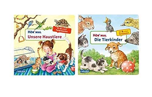 Carlsen Verlag Soundbuch-Set - Hör mal: Unsere Haustiere + Die Tierkinder (2X Pappbücher)