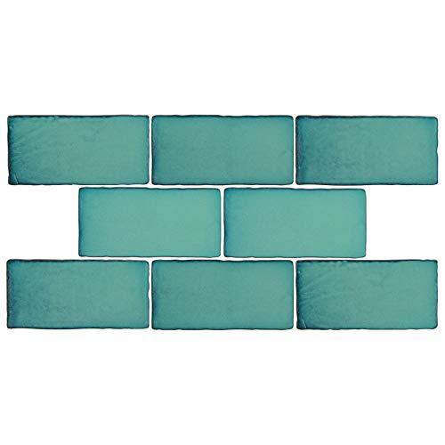 SomerTile WCVASL Antigue Special Lava Verde Ceramic Wall Tile, 3