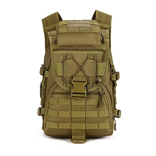 Mochilas escolares 40l hombre mochilas de mochilas Ejército Camping Tactics Bolsas de asalto militares 600D Bolsa de viaje a prueba de agua Mochila táctica de los hombres Mochila ( Color : Brown )