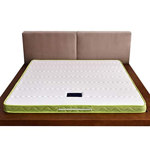 YRRA Doble Memoria Colchón, Látex Memoria Espuma Colchones Respirable Altamente Durable Suave De Punto Tela, (Invierno Verano),Thick5cm,135 * 200cm