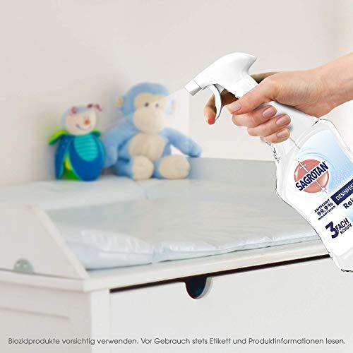 Sagrotan Desinfektions-Reiniger – Desinfektionsmittel für die tägliche, sanfte Reinigung – 1 x 500 ml Sprühflasche mit neuem Sprühkopf im Vorteilspack - 3