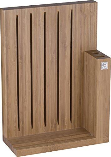 ZWILLING 35043-200-0 Ceppo Porta Coltelli bambù - Sedi per 5 Coltelli, Forbici e Acciaino