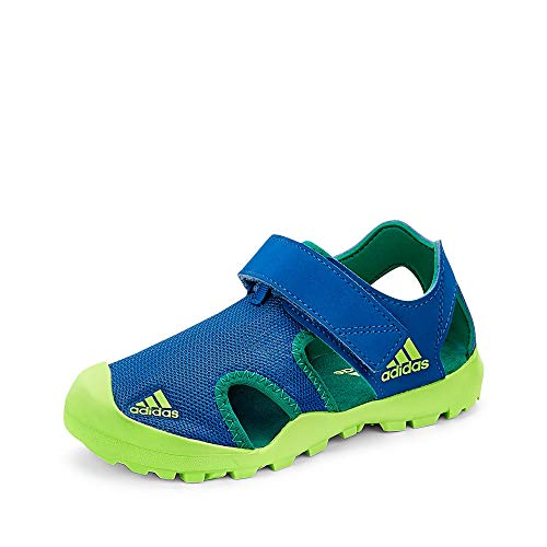 adidas Captain Toey K, Sandales, Bleu Gloire/Vert Signal/Vert Gloire, 31 EU