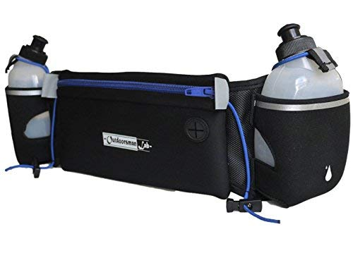 Outdoorsman Lab Runners Belt - Hydration Belt with Two 10 oz BPA Free Water Bottles - Bounce-Free...