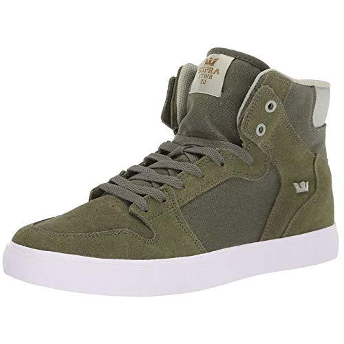 Supra Herren Vaider Hohe Sneaker, Grün (Olive/Stone-White-M 370), 42.5 EU