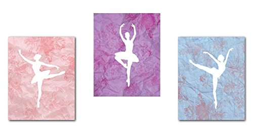 Décor de ballerine, collection de danseuses de ballet - Décoration murale pour chambre d'enfant, chambre de bébé, ballet - Décoration de chambre de fille
