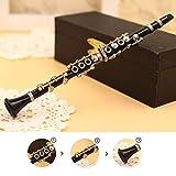 [page_title]-XuBa Mini Klarinette Modell Musikinstrument Miniatur Schreibtisch Dekor Display mit schwarzem Leder Box + Halterung