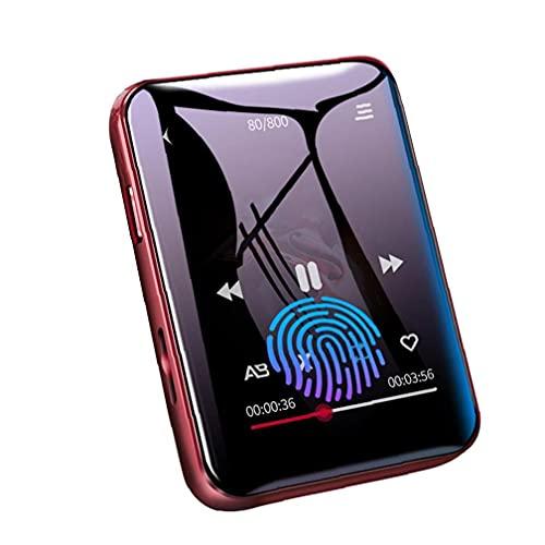 Tuimiyisou MP3 acústica Bluetooth Reproductor de música con 4G de Almacenamiento de Pantalla táctil Completa fácilmente Llevado FM Radio grabadora de música Reproducción de Red