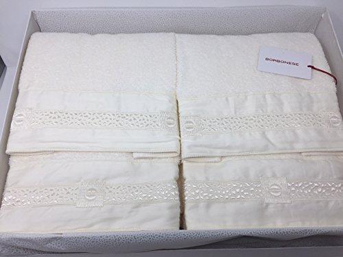 Set 5 asciugamani Borbonese art. Heritage (2 coppie spugna + 1 telo)