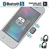 Giveet Adaptateur de transmetteur Audio Bluetooth avec connecteur USB Type-C, Prise en Charge du Chat Vocal en Jeu, Dual Link aptX Faible Latence Compatible avec Nintendo Switch, PC