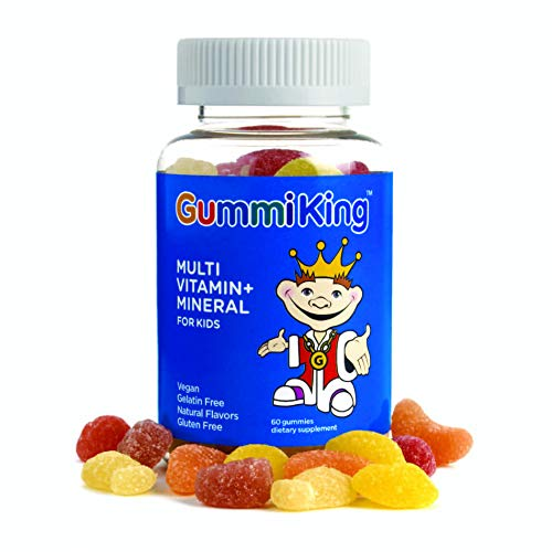 Gummi King Multivitamin and Mineral Supplement, Strawberry/Lemon/Orange/Grape/Cherry/Grapefruit, 60 Count