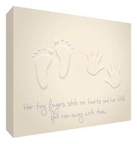 Feel Good Art Gallery Toile enveloppée pour chambre d'enfant Motif moderne 20 x 30 x 3 cm Crème, petite taille