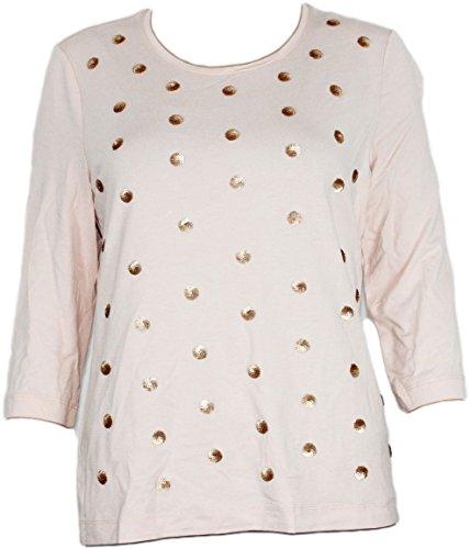 Gelco Damen Shirt Pullover 3/4 Arm Tshirt Pailletten (38)