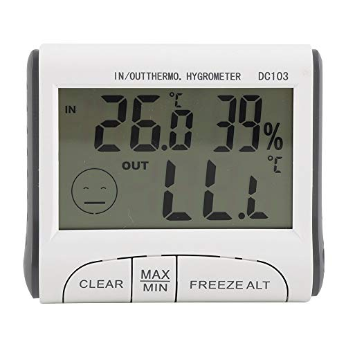 FTVOGUE Koelkast Thermometer Digitale Vriezer Temp Monitor LCD Display met Temperatuur Sensor en Audible Alarm