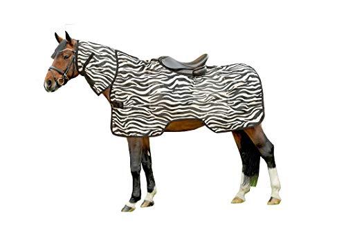 HKM Fliegenausreitdecke -Zebra-, weiß/schwarz, 105