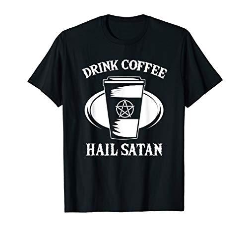 Pentagram Shirt - Occult Satanic Lucifer Coffee...
