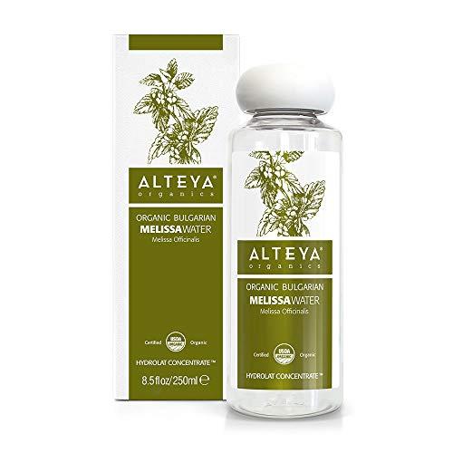 Alteya - Bouteille compte-gouttes bio de 250 ml - 100% certifiée USDA - Eau florale naturelle pure - Distillée à la vapeur à partir de feuilles de Mel