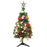WINGLESCOUT クリスマスツリー 卓上 60cm ミニツリー クリスマス飾り LEDクリスマスツリー 電飾 オーナメント おしゃれ キラキラ 暖かい 雰囲気満々 簡単な組立品 飾り 商店 部屋 おもちゃ プレゼント