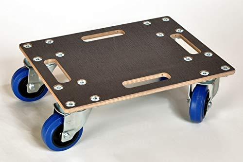 Rollbrett gebremst • Traglast ca. 800 kg • Made in Germany • 35x50 cm • Transportroller Möbelroller Schwerlast Möbelhund Handwerk (Rollbrett gebremst)