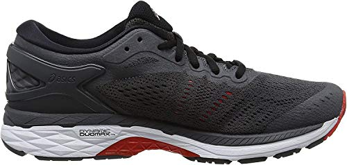 Asics Herren Gel-Kayano® 24 Schuhe, 40 EU, Dark Grey/Black/Fiery Red