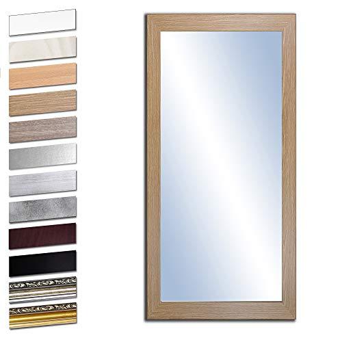 Bilderdepot24 Wandspiegel Spiegel Badspiegel Holzrahmen komplett mit Echtglas - Eiche Grand - ca. 120x50 cm